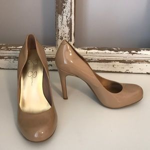 Jessica Simpson Nude Rounded Heel